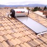 Pannello solare da 150 litri su falda