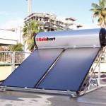 Pannello SOLARHART 302K da litri 300 su tetto piano