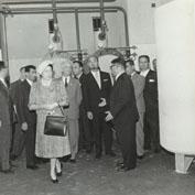 Inaugurazione dell'ONPI. Il Presidente Segni visita la centrale termica.